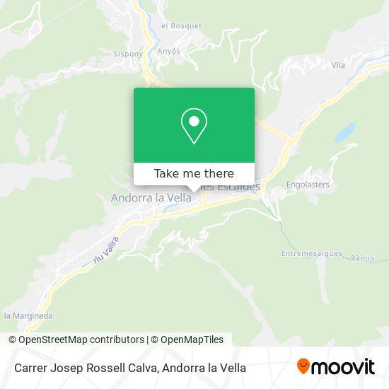 Carrer Josep Rossell Calva map