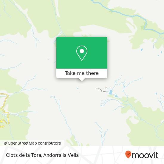 Clots de la Tora map
