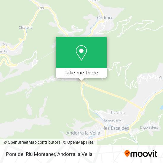 Pont del Riu Montaner map
