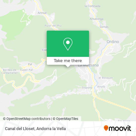 Canal del Lloset map