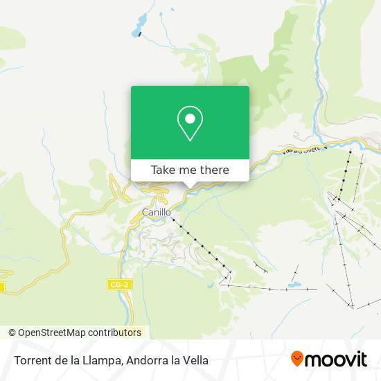 Torrent de la Llampa map