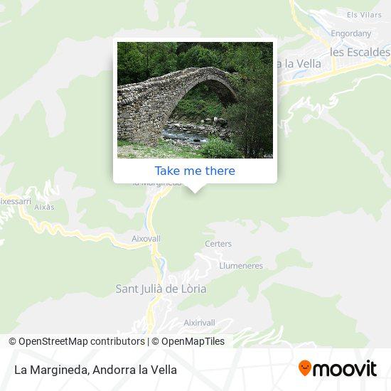 La Margineda map