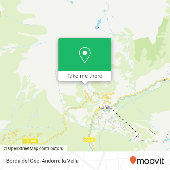 Borda del Gep map