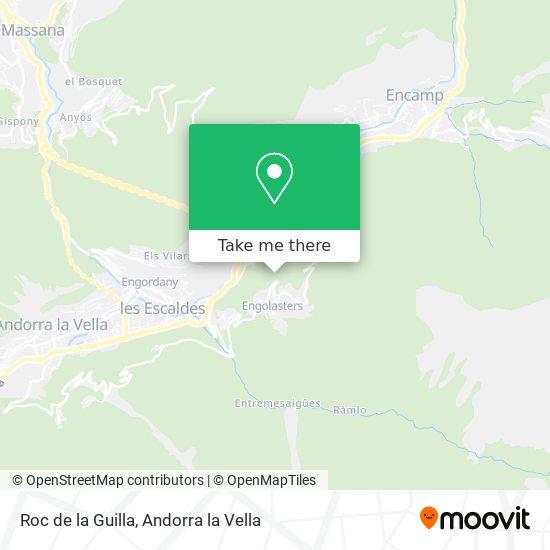 Roc de la Guilla map