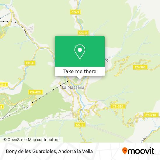 Bony de les Guardioles map