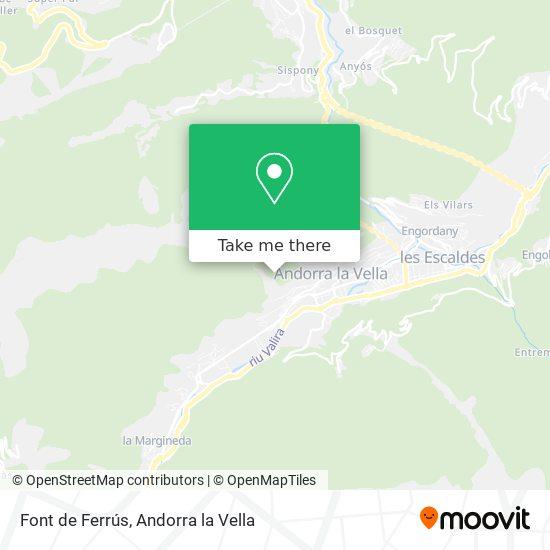 Font de Ferrús map