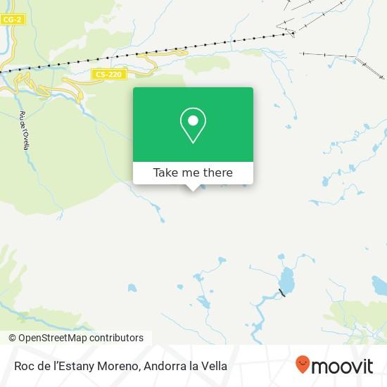 Roc de l'Estany Moreno map