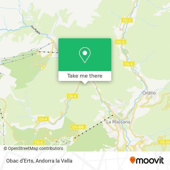 Obac d'Erts map