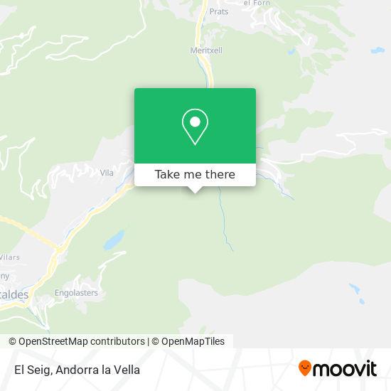 El Seig map