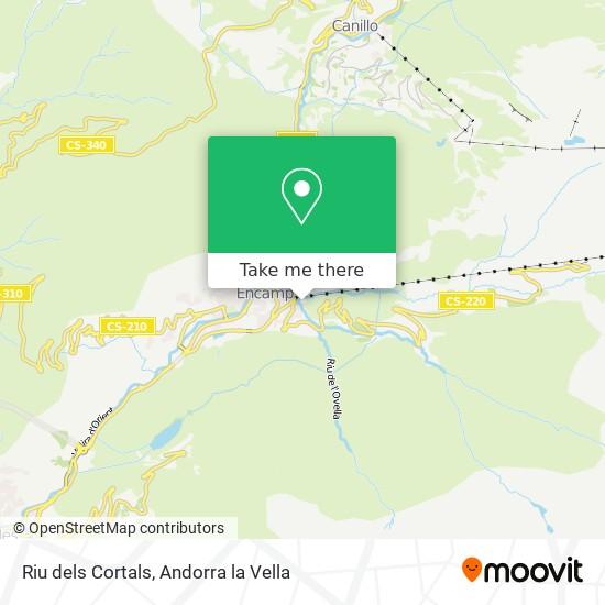 Riu dels Cortals map