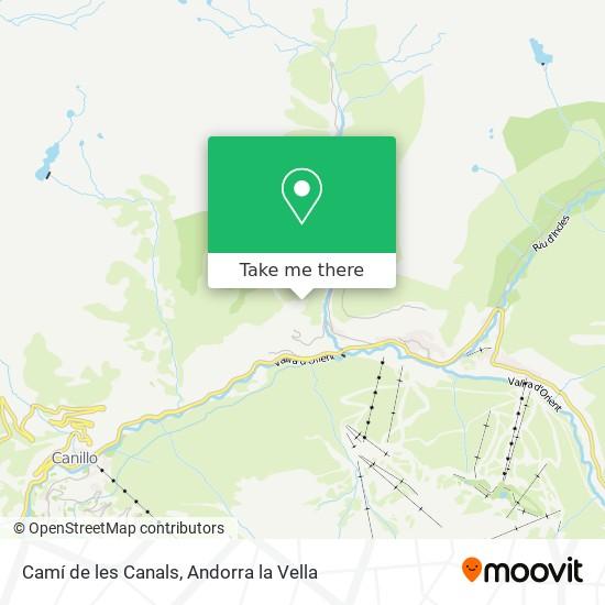 Camí de les Canals map