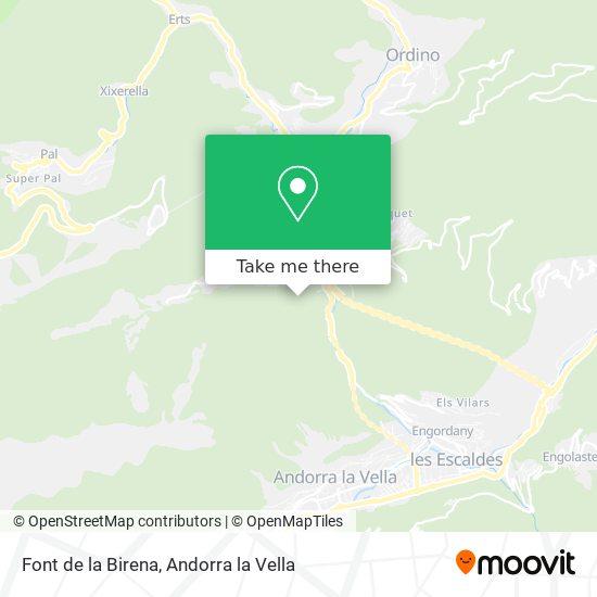 Font de la Birena map