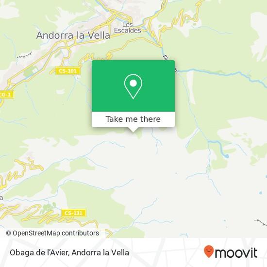 Obaga de l'Avier map