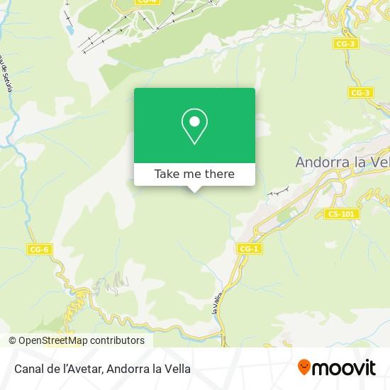 Canal de l'Avetar map