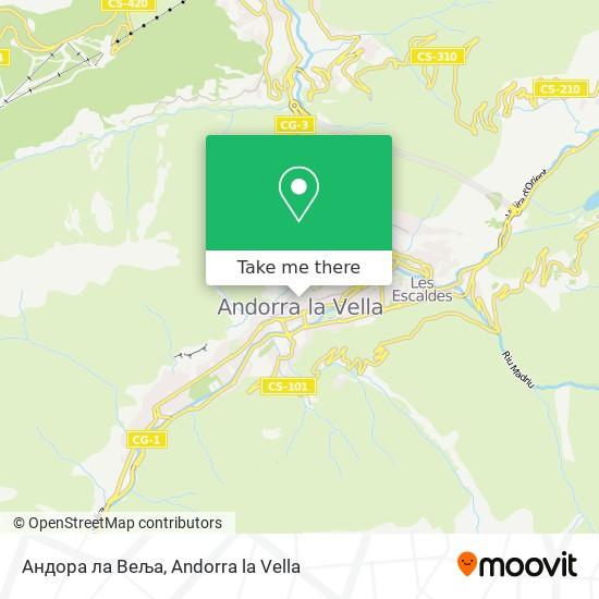 Андора ла Веља map