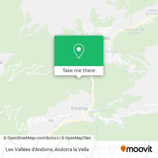 Les Vallées d'Andorre map