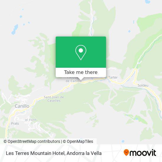 Les Terres Mountain Hotel map