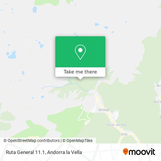 Ruta General 11.1 map