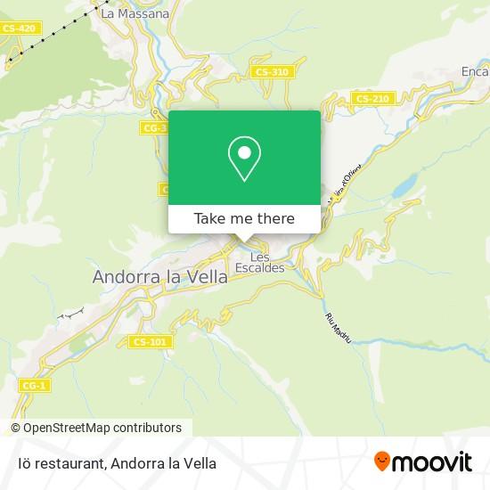 Iö restaurant map