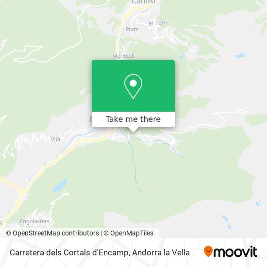 Carretera dels Cortals d'Encamp map