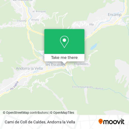 Camí de Coll de Caldes map