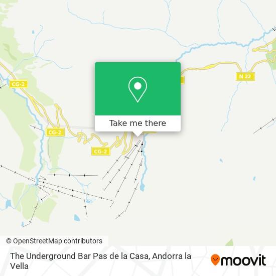 The Underground Bar Pas de la Casa map