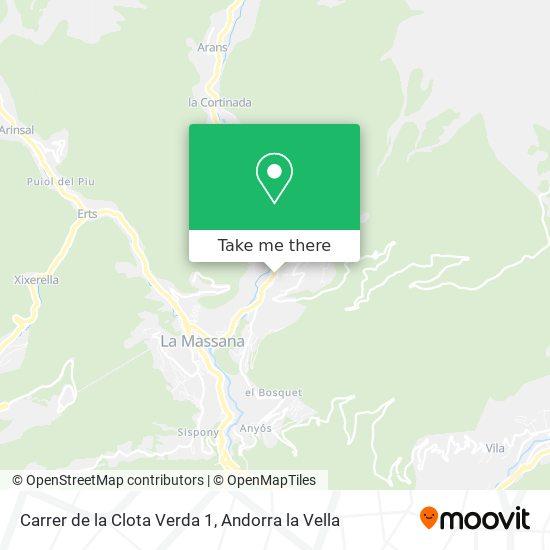 Carrer de la Clota Verda 1 map