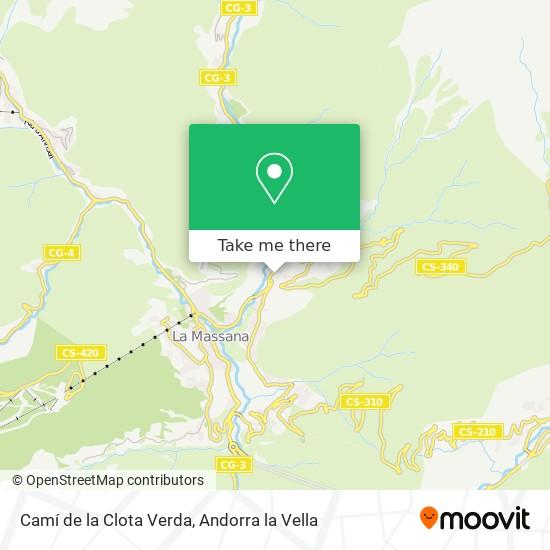 Camí de la Clota Verda map