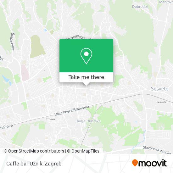 Caffe bar Uznik map