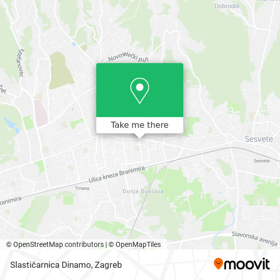 Slastičarnica Dinamo map