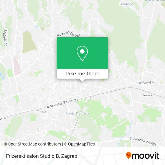 Frizerski salon Studio B map