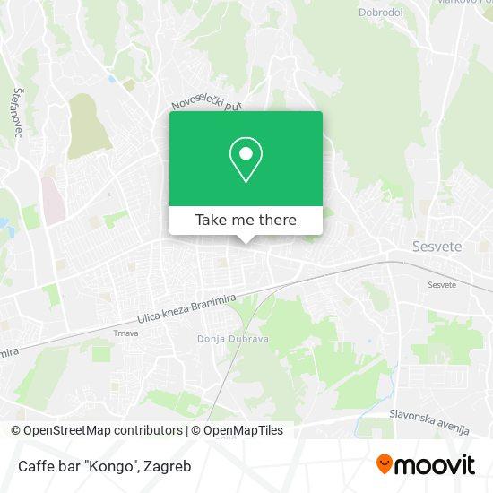 """Caffe bar """"Kongo"""" map"""