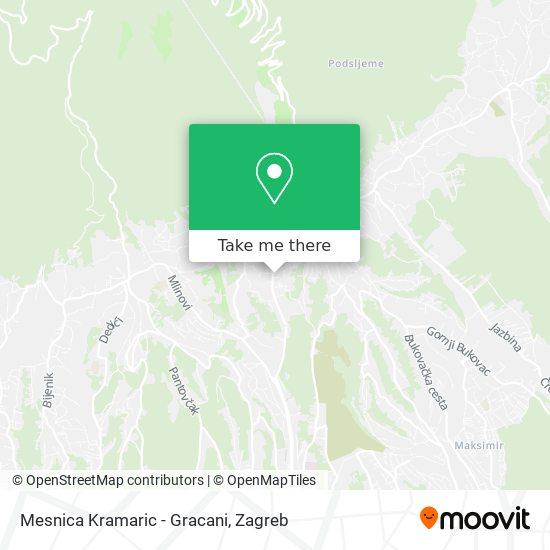 Mesnica Kramaric - Gracani map