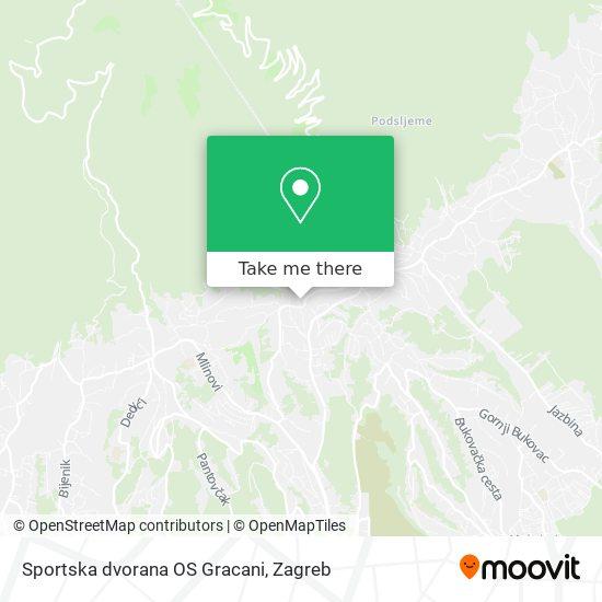 Sportska dvorana OS Gracani map