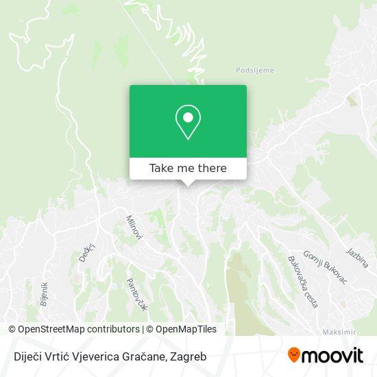 Diječi Vrtić Vjeverica Gračane map
