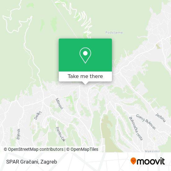 SPAR Gračani map
