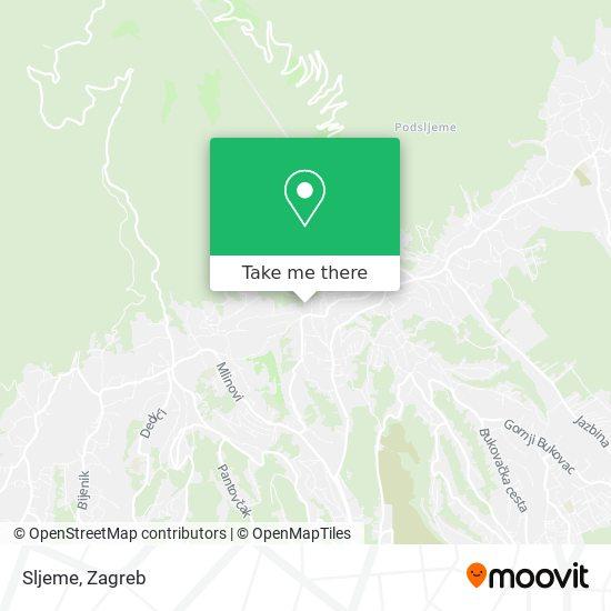 Sljeme map