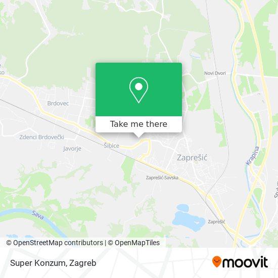 Super Konzum map