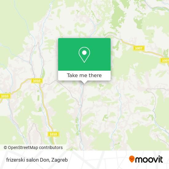 frizerski salon Don map