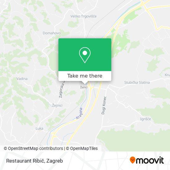 Restaurant Ribič map