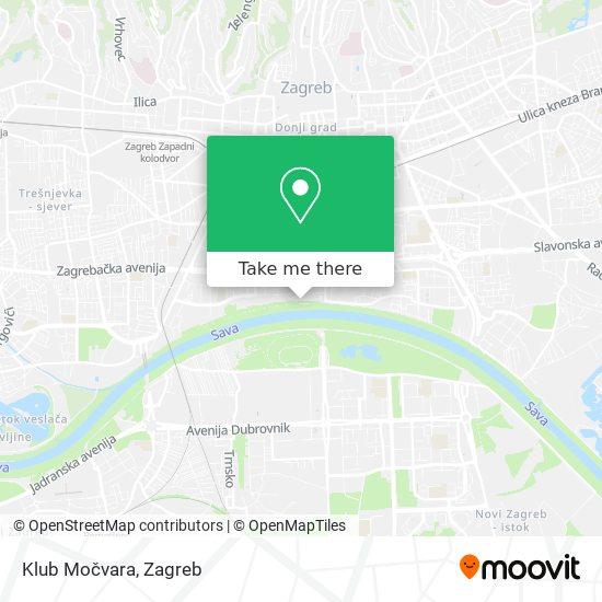 Klub Močvara map