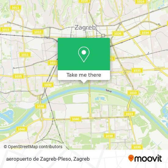 aeropuerto de Zagreb-Pleso map