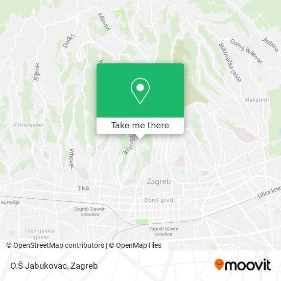 O.Š Jabukovac map