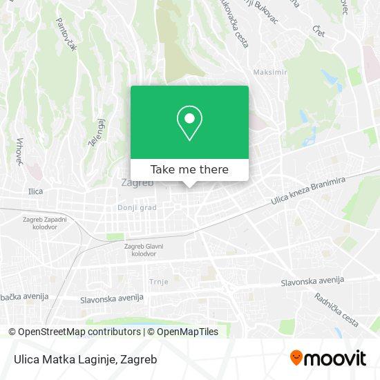 Ulica Matka Laginje map