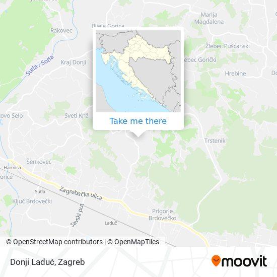 Donji Laduć map