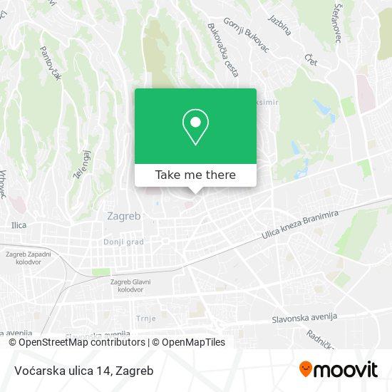 Voćarska ulica 14 map