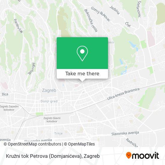 Kružni tok Petrova (Domjanićeva) map