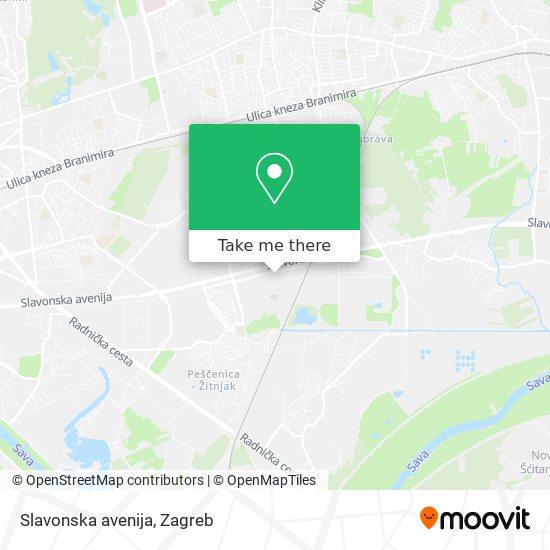 Slavonska avenija map