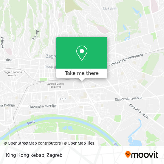King Kong kebab map