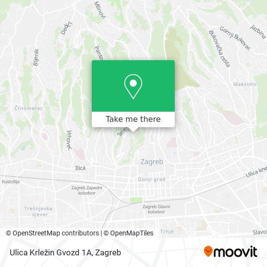 Ulica Krležin Gvozd 1A map